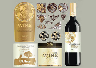 Antarctic White Paper Type Custom Wine Labels Matte Varnishing Surface Finishing