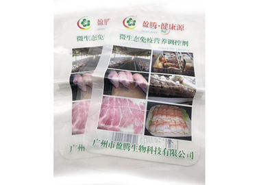 Food Grade Material Opaque 3 Side Seal Pouch For Meat With Bottom Open